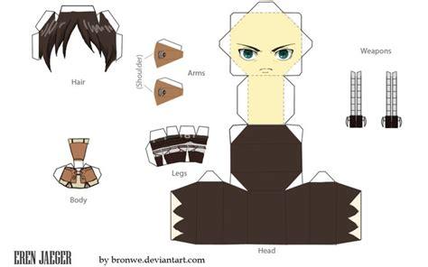 eren jaeger papercraft template by bronwe deviantart