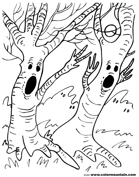 spooky tree coloring page spooky tree coloring page create a printout or activity