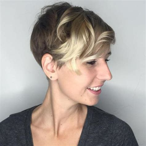 brown pixie with blonde highlights 30 standout curly and wavy pixie cuts