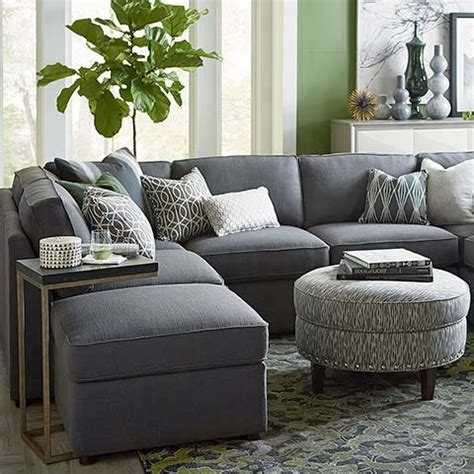 U Shaped Grey Sectional U Shaped Sectional In Taupe
