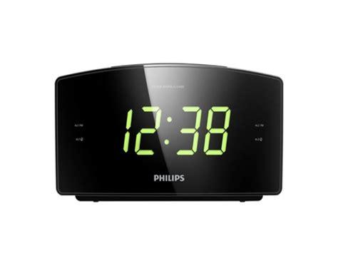 philips aj3400 05 digital alarm clock radio with big time display snooze black ebay