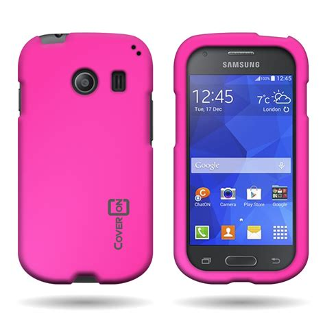 for samsung galaxy ace style hard snap on rubberized