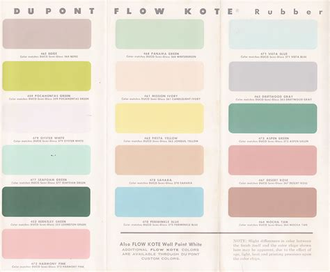 vintage goodness 1 0 vintage decorating 1950 s paint color chip brochures