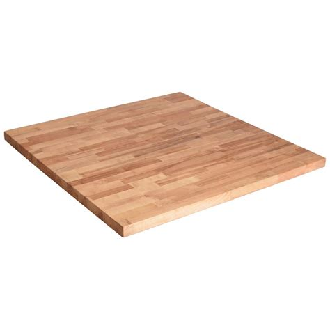 36in x 36in x1 5in wood butcher block countertop in