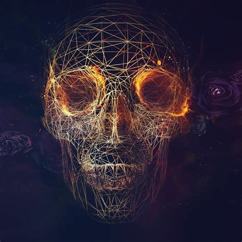 digital skull artwork ipad air wallpaper ipad air