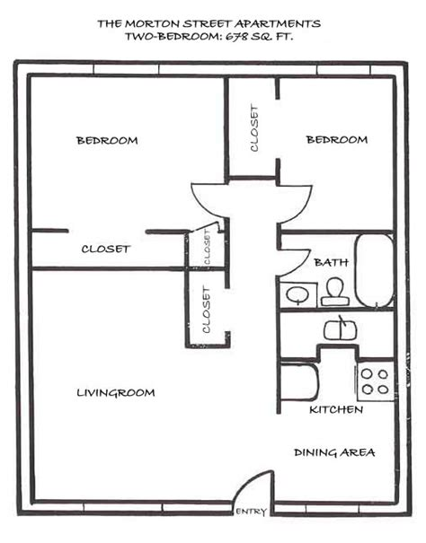 Floor Plan For 2 Bedroom House by Conan Patenaude Floor Plan 2 Bedroom House