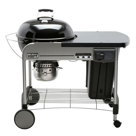 weber 22 inch performer 174 deluxe charcoal bbq in black