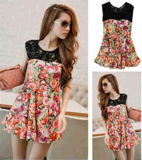 Blouse Jumbo Bunga blouse korea sablon bunga kombi lace s118 spandex dress