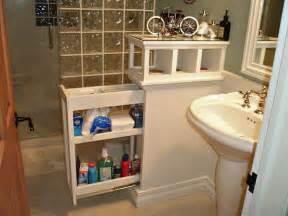 instead of an empty half wall in a bathroom install a