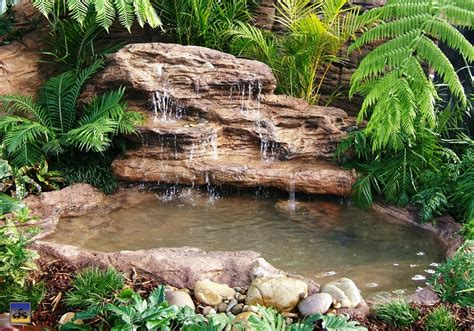 large edge waterfall lew  garden pond products