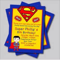 popular superman birthday invitations buy cheap superman birthday invitations lots from china