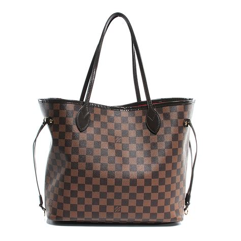 louis vuitton damier with chocolate accents classic canvas louis vuitton damier ebene neverfull mm 51911