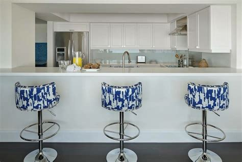 bar stools for white kitchen white and blue bar stools contemporary kitchen anne
