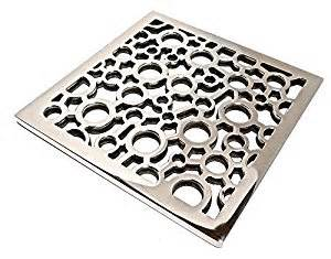 designer drains square ebbe bubbles brushed nickel shower