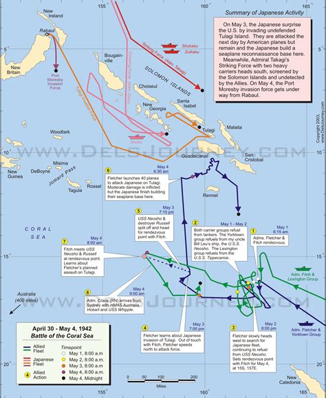 coral sea map battle of the coral sea on april 30 may 4 1942