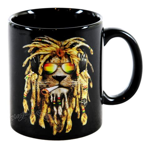 Wholesale Home Decor Online dj lion smoking 11oz coffee cup rastaempire com