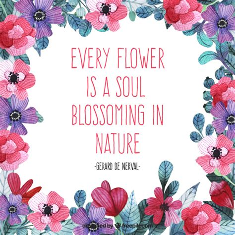 flower design quotes watercolor flowers with emotive quote about nature vector