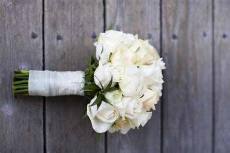 All White Wedding Flower Arrangements by White Bridal Bouquets Classic And