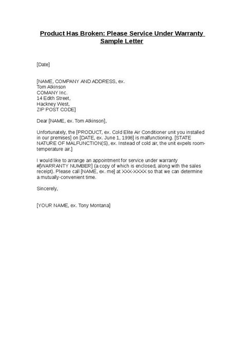 Decline Warranty Letter Free Cv Exles Templates Creative Downloadable Fully