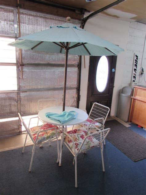 steel patio table lot detail steel patio table with chairs umbrella