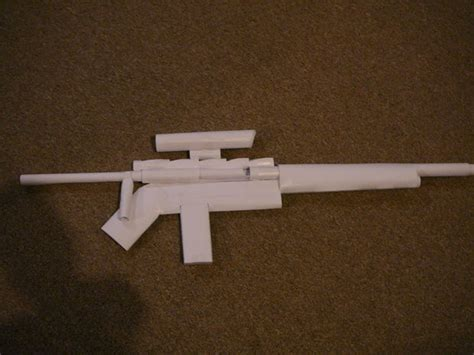 paper gun sniper rifle all