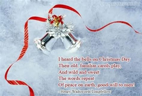 christmas bell quotes and captions i heard the bells on day quote collection of inspiring quotes sayings images