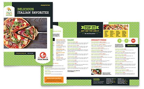 pizza menu template word free restaurant menu template word publisher
