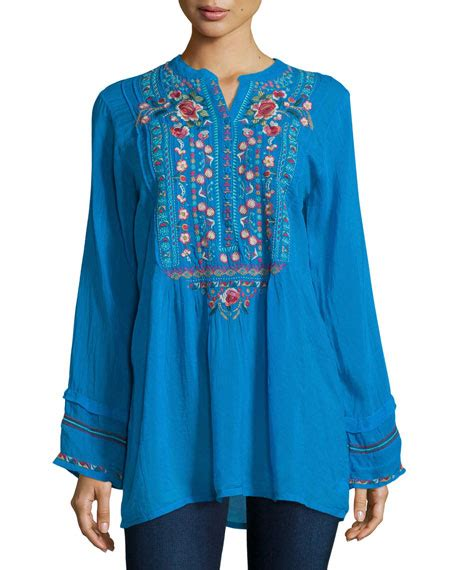 Catra Tunic johnny was catra embroidered tunic plus size