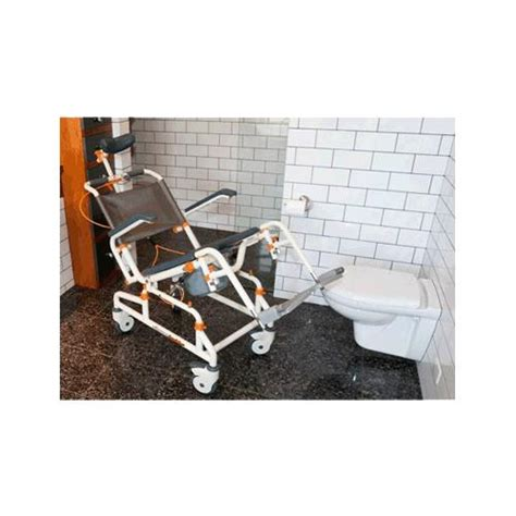 showerbuddy roll in shower chair with tilt shower chairs