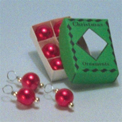 12th scale dolls house christmas red decorations d1769