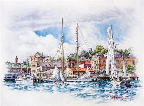 wooden boat festival arrival wooden boat festival art by scott kennedy