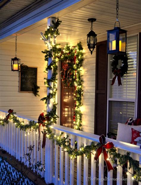 front porch christmas lights