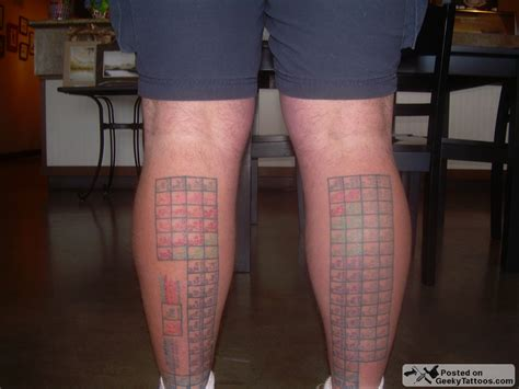 periodic table tattoo reader up 8 geeky tattoos