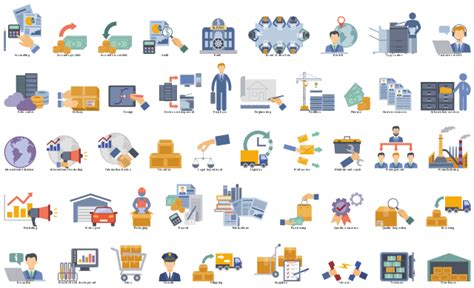 Value stream mapping   Vector stencils library   Design elements   Logistic transport   Value
