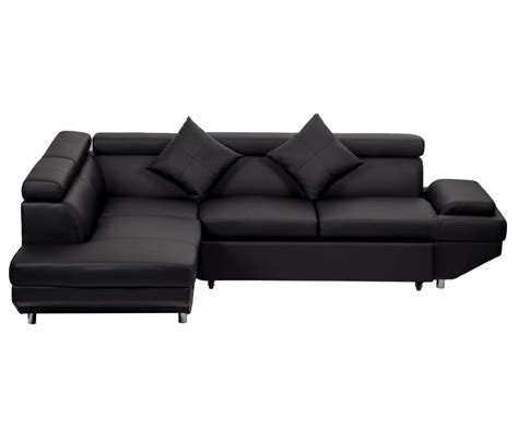 Black Sectional Sofa Bed Contemporary Sectional Modern Sofa Bed Black With Functional Armrest Back L Ebay