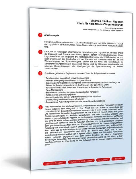 Leistungsbeurteilung Praktikum Vorlage Arbeitszeugnis Logop 228 De Note Eins Vorlage Zum