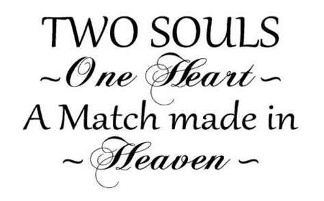 Removable Wall Stickers Ebay two souls one heart made in heaven vinyl wall art words