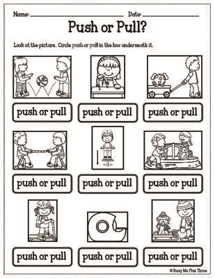 Push And Pull Worksheets For Kindergarten by Best 25 And Motion Ideas On Newton Unit