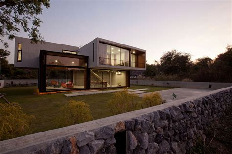 modern stone house plans contemporary w house designed by idin architects