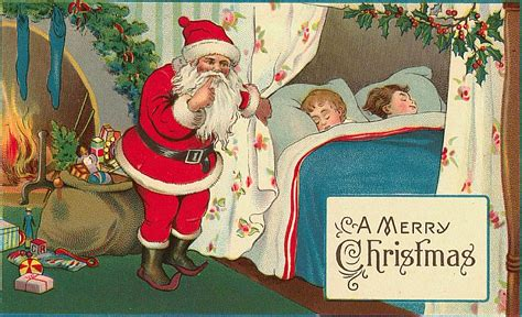 printable santa postcards 5 free christmas postcards with vintage santa images