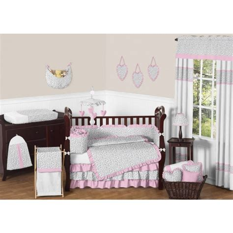 Pink And Leopard Crib Bedding Leopard Bedding