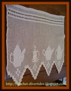 cenefa crochet cocina mis trabajos tejidos  otros cenefas cortinas de crochet cenefas