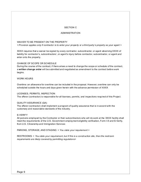 Rfp Template Risk Waiver Form Template