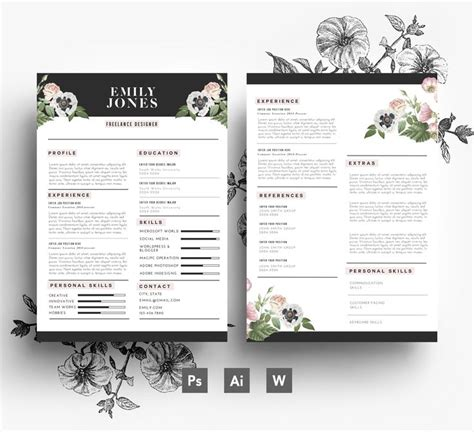 flower design resume 1000 images about flower resumes on pinterest