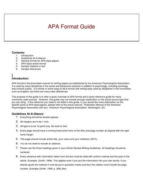 apa format guide pdf 201 apa format guide spring 2009 apa style citation