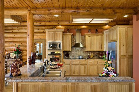 log home kitchen ideas log cabin kitchen ideas 50
