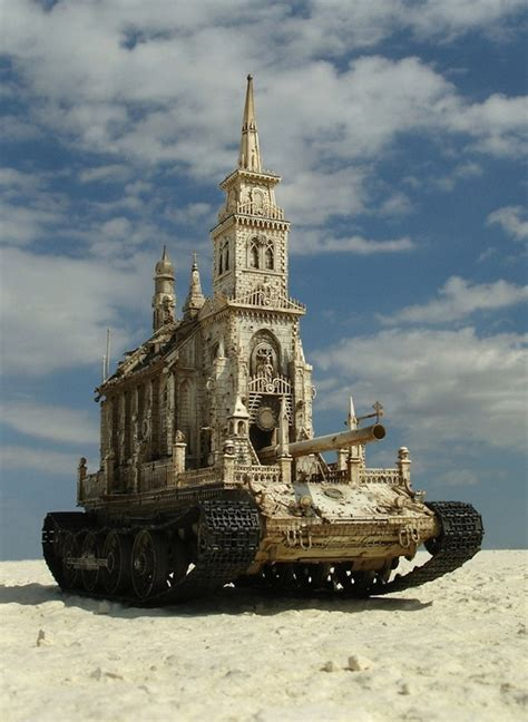 Church Is A Tank by Church Tank Churchtanks By Kris Kuksi The Circus