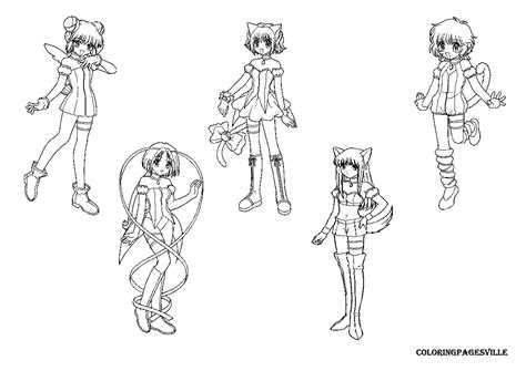 tokyo mew mew coloring pages