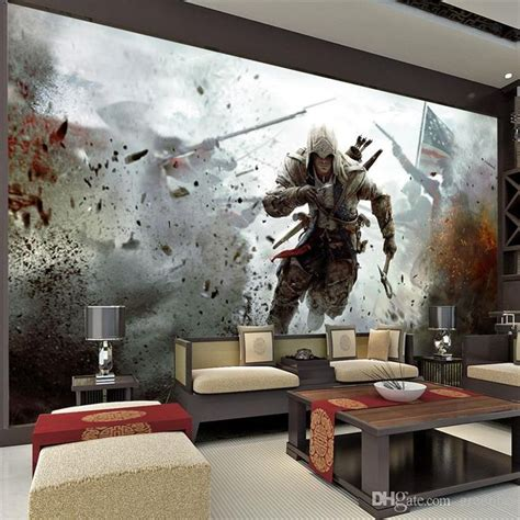 wall murals for room view wall mural assassins creed photo wallpaper hd wall stickers silk poster living room