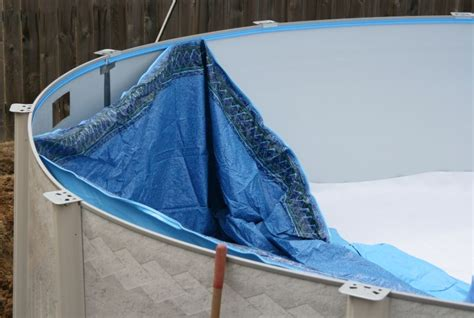 beaded pool liner installation above ground swimming pool installation guide